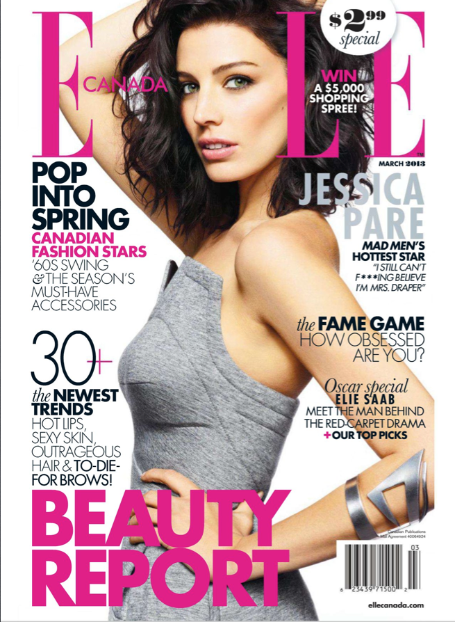 Jessica Pare on Elle Canada March 2013