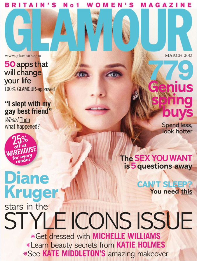 Diane Kruger on Glamour UK