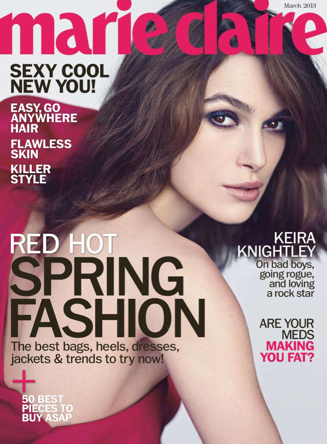 Keira Knightley on Marie Claire USA