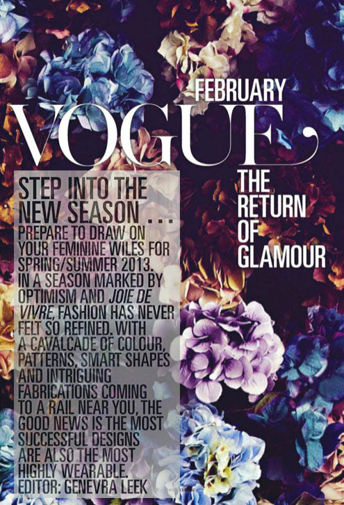 Vogue February The Return of Glamour