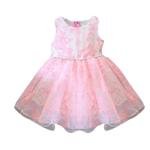 Summer Baby Girls Party Clothes Kids Dresses with Floral Printed