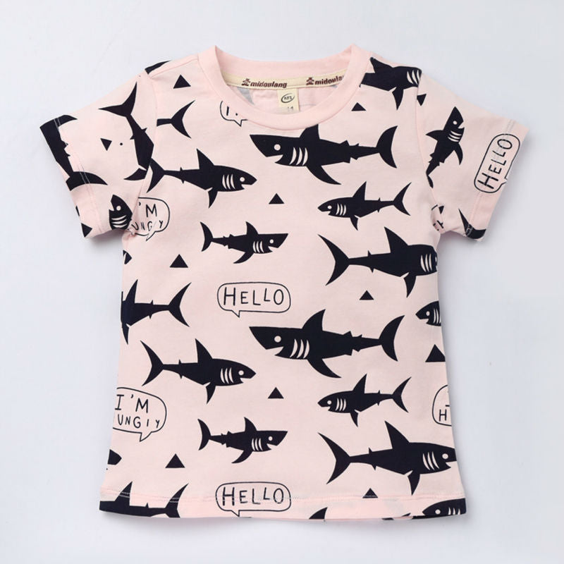 Kids Shark Print T-shirt