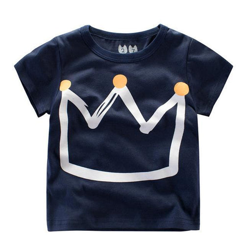 Kids Crown Print T-Shirt