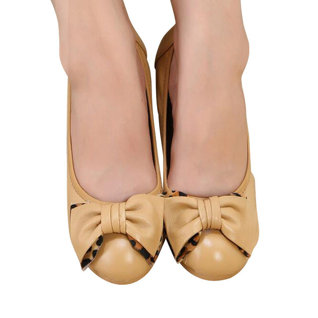PU Leather Wedges Loafer Shoe