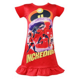 The Incredibles 2 Summer Dresses Baby Girls Princess Birthday Party Dress Children Costume Kids Clothes Vestido Vaiana