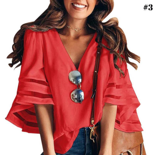 Summer Cute Chiffon Loose Blouse