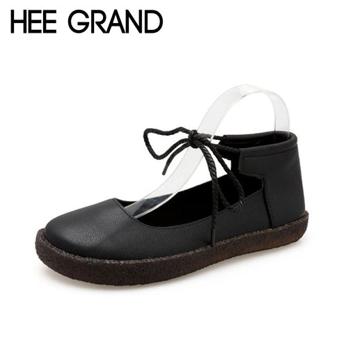 Women Flats Style Lace-up Shoe