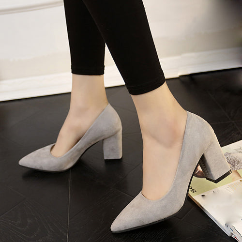 Women High Heels Thick Shoe