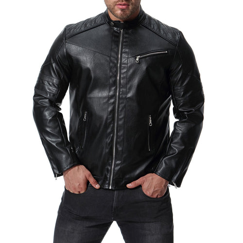 New Arrival Mens Motorcycle Leather Jacket