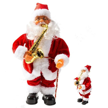 Musical Dancing Santa Claus Christmas Figure