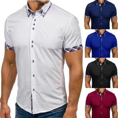 Men Long Sleeves Slim Fit Shirt
