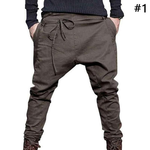 Men Trousers Low Crotch Pant