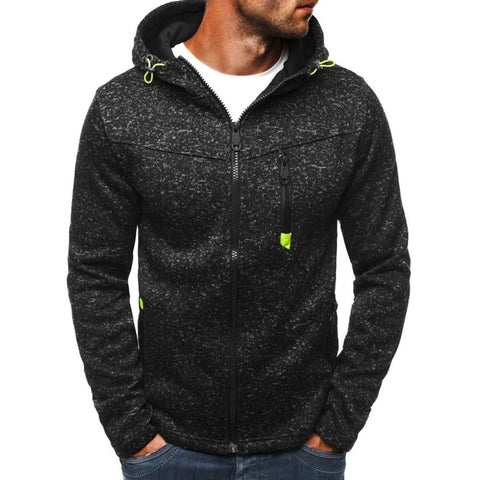 Men Hoodies Zipper Jacket
