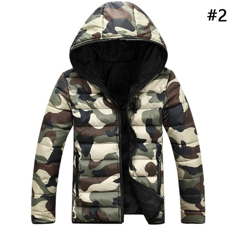Mens Warm Camouflage Jacket