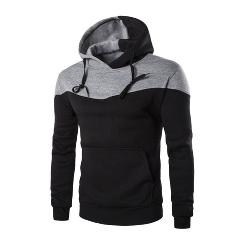 Mens Autumn Winter Zip Casual Long Sleeve Slim Pocket Fit Hoodies Jacket Coat