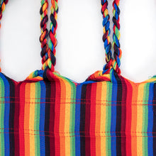 Load image into Gallery viewer, Two Person Hammock - Pride Rainbow Plaits Image
