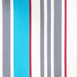 Cotton Two Person Hammock - Blue Grey And Red Pattern Image