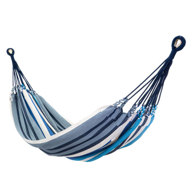 Cotton Family Sized Hammock - Blue And Grey Main Image