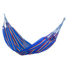 Load image into Gallery viewer, Two Person Hammock - Blue Rainbow Main Image