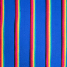 Load image into Gallery viewer, Two Person Hammock - Blue Rainbow Pattern Image