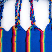 Load image into Gallery viewer, Two Person Hammock - Blue Rainbow Plait Image