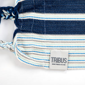 Cotton Kids Sized Hammock - Blue And Grey Label Image