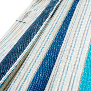 Cotton Kids Sized Hammock - Blue And Grey Fabric Image