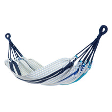 Load image into Gallery viewer, Cotton Kids Sized Hammock - Blue And Grey Main Image