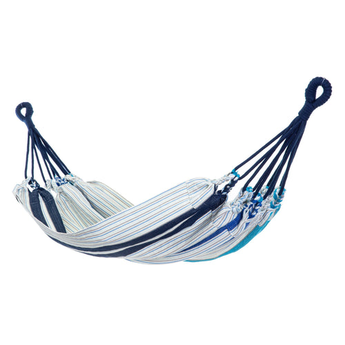 Cotton Kids Sized Hammock - Blue And Grey Main Image