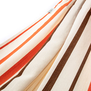 Cotton Family Sized Hammock - Brown And Orange Fabric Image