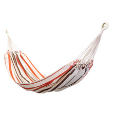 Load image into Gallery viewer, Cotton Family Sized Hammock - Brown And Orange Main Image
