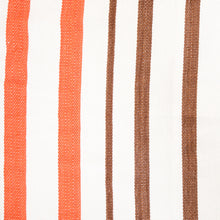 Load image into Gallery viewer, Cotton Family Sized Hammock - Brown And Orange Pattern Image