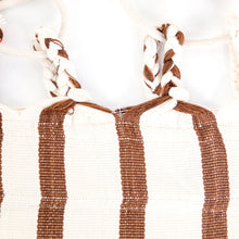 Load image into Gallery viewer, Cotton Family Sized Hammock - Brown And Orange Plaits Image