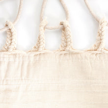 Load image into Gallery viewer, Cotton Family Sized Hammock With Macrame - Cream Plaits Image