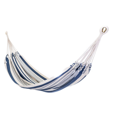 Cotton Two Person Hammock - Blue And Grey Main Image