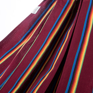 Two Person Hammock - Dark Red Rainbow Fabric Image