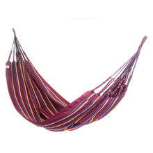 Load image into Gallery viewer, Two Person Hammock - Dark Red Rainbow Main Image