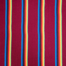 Load image into Gallery viewer, Two Person Hammock - Dark Red Rainbow Pattern Image