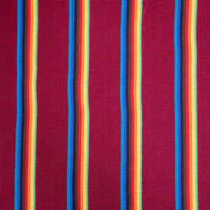 Two Person Hammock - Dark Red Rainbow Pattern Image