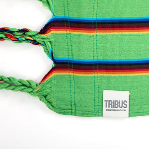 Two Person Hammock - Light Green Rainbow Label Image