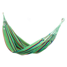 Load image into Gallery viewer, Two Person Hammock - Light Green Rainbow Main Image