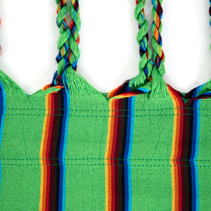 Two Person Hammock - Light Green Rainbow Plaits Image