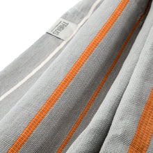 Load image into Gallery viewer, Cotton Family Sized Hammock - Grey And Orange Fabric Image