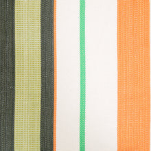 Load image into Gallery viewer, Cotton Family Sized Hammock - Green And Orange Pattern Image