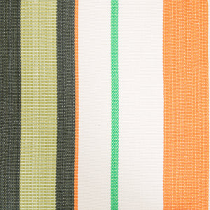 Cotton Family Sized Hammock - Green And Orange Pattern Image