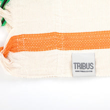 Load image into Gallery viewer, Cotton Family Sized Hammock - Green And Orange Label Image
