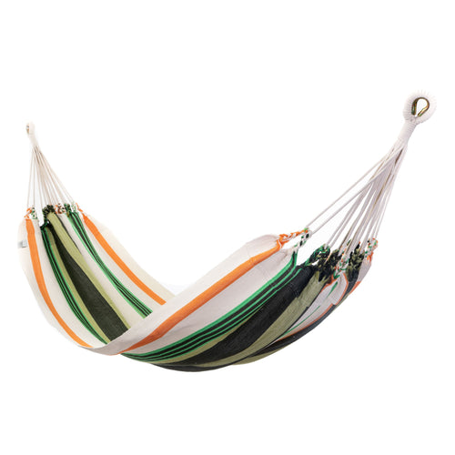 Cotton Family Sized Hammock - Green And Orange Main Image