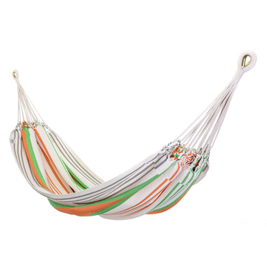 Cotton Two Person Hammock - Green And Orange Main Image