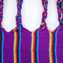Load image into Gallery viewer, Two Person Hammock - Purple Rainbow Plait Image