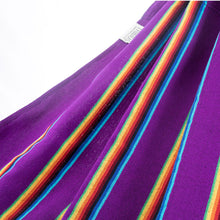 Load image into Gallery viewer, Two Person Hammock - Purple Rainbow Fabric Image